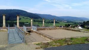 Holzthum, Römervilla, blick über das Prümtal